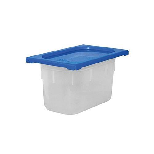 GN-Behälter mit farbigen Deckeln