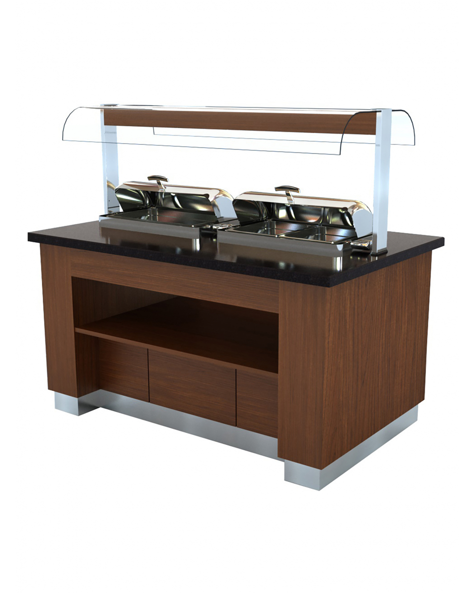 Warm Buffet - Chafing dishes - H 90/145 x 160 x 100 CM - Combisteel - 7075.0320