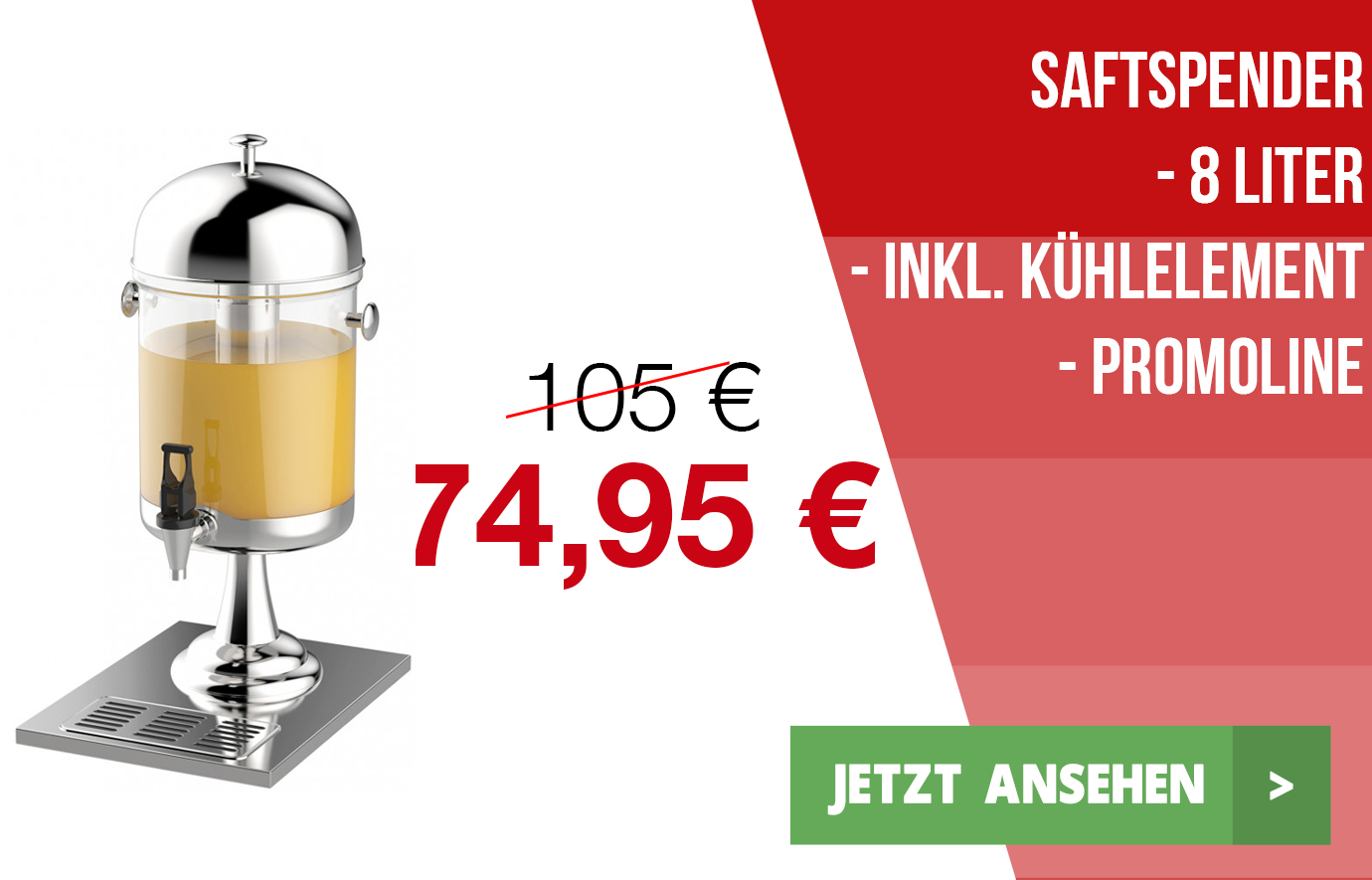 Gastro-Fritteuse - 8 Liter - Promoline - 021223